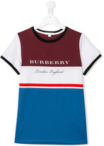 Burberry striped T-shirt - kids - Cotton - 14 yrs