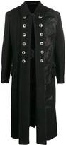 Yohji Yamamoto buttoned lapel coat