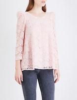 Claudie Pierlot Banc floral guipure lace top