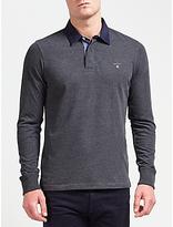 Gant Original Heavy Rugger Jersey Top, Charcoal