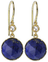 Irene Neuwirth Rose Cut Lapis Earrings with Diamonds - Yellow Gold