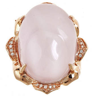 FINE JEWELRY LIMITED QUANTITIES! Genuine Rose Quartz and Lab-Created White Sapphire Ring