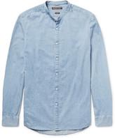 Michael Kors Slim-Fit Grandad-Collar Denim Shirt