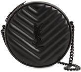 Saint Laurent Vinyle Round Quilted Leather Camera Bag