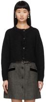 Miu Miu Black Mohair Cropped Cardigan