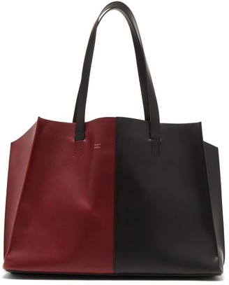 Mansur Gavriel Multitude Bi-colour Leather Tote Bag - Burgundy Multi