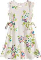 Bonnie Jean Floral-Print Venise Lace Dress, Toddler Girls