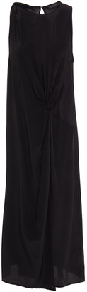 Rag & Bone Draped Silk Crepe De Chine Midi Dress