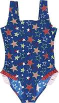 Playshoes Girl's UV Sun Protection Bathing Suit Stars Swimsuit,(Manufacturer Size:110/116 (5-6 Years))