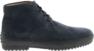 Tod's Tods Winter Gommino Desert Boots In Suede