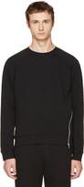 McQ by Alexander McQueen Black Twisted Zip Sweatshirt