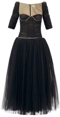 KHAITE Desi Crystal-embellished Tulle Dress - Black