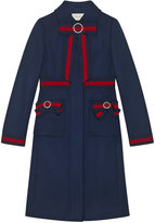 Gucci Wool coat with Web bows - women - Silk/Wool - 42
