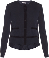 Moncler Long-sleeved jersey-knit cardigan