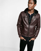 Express Minus the) leather hooded 2-IN-1 system jacket
