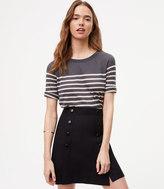 LOFT Petite Striped Short Sleeve Sweater
