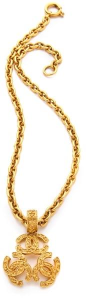 WGACA Vintage Chanel Pendant Necklace