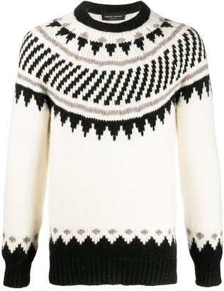 Roberto Collina Patterned Knitted Long Sleeve Jumper
