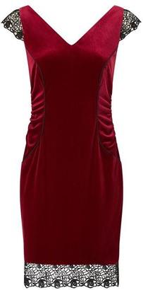 Ariella London Ariella Tiana Velvet Lace Hem Dress