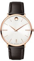 Movado 40mm Ultra Slim Watch, Brown