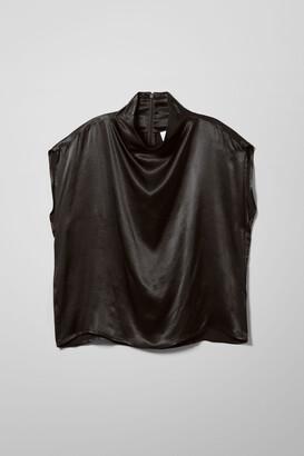 Weekday Rayne Short Sleeve Blouse - Black