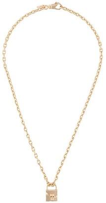 Emanuele Bicocchi Skull-Padlock Charm Necklace