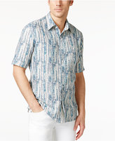Tasso Elba Men's Linen-Silk Short-Sleeve Shirt, Only at Macy's