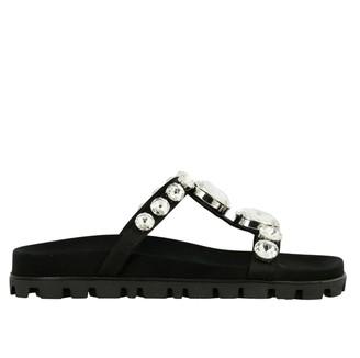Miu Miu Sandal With Rhinestones