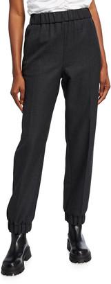 Ganni Wool-Blend Suiting Jogger Pants