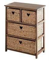Fashion World Hyacinth Hearts 2+2 Drawer unit