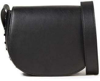 DKNY Embellished Leather Shoulder Bag