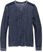 American Rag Men's Plaited Pieced Henley Sweater, Only at Macy's