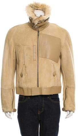 Gucci Fox Fur-Trimmed Shearling Jacket