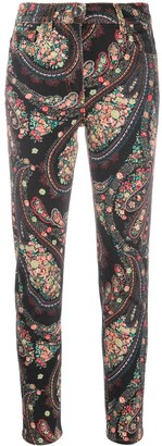 Etro Paisley Print Slim-Fit Jeans