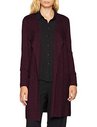S'Oliver BLACK LABEL Women's 11.808.64.20 Regular Fit Long Sleeve Cardigan, Grey (Happy Grey 97), (Manufacturer Size: 36)