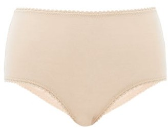 Araks Mabel High-rise Organic-cotton Briefs - Womens - Beige