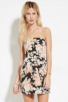 Forever 21 FOREVER 21+ Strapless Rose Print Dress