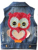 21KIDS Cute Owl Kids Boys Girls Casual Denim Top Vest 3-8 Year