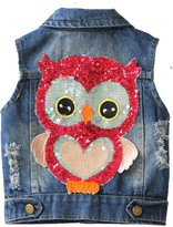 21KIDS Cute Owl Kids Boys Girls Casual Denim Top Vest 3- Year