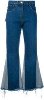 Misbhv denim flared trousers - women - Cotton - S
