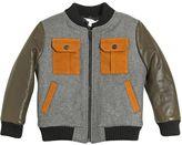 Little Marc Jacobs Padded Wool Felt & Leather Bomber Jacket