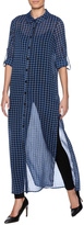 Freeway Checkered Maxi Tunic