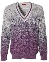 Missoni Men's Grey/purple Cotton Sweater.