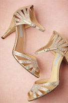 BHLDN Champagne Sparkle Heels
