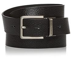 Giorgio Armani Men's Multi-Buckle Reversible Leather Belt Set