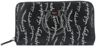 Salvatore Ferragamo Gancini Zip Around Wallet
