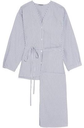 Three Graces London Fillide Striped Cotton Pajama Set
