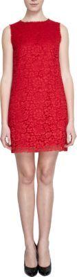 Dolce & Gabbana Floral Lace Sleeveless Crewneck Shift Dress