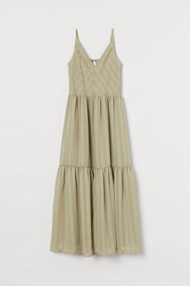 H&M V-neck Maxi Dress - Green