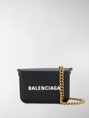 Balenciaga Cash mini wallet on chain